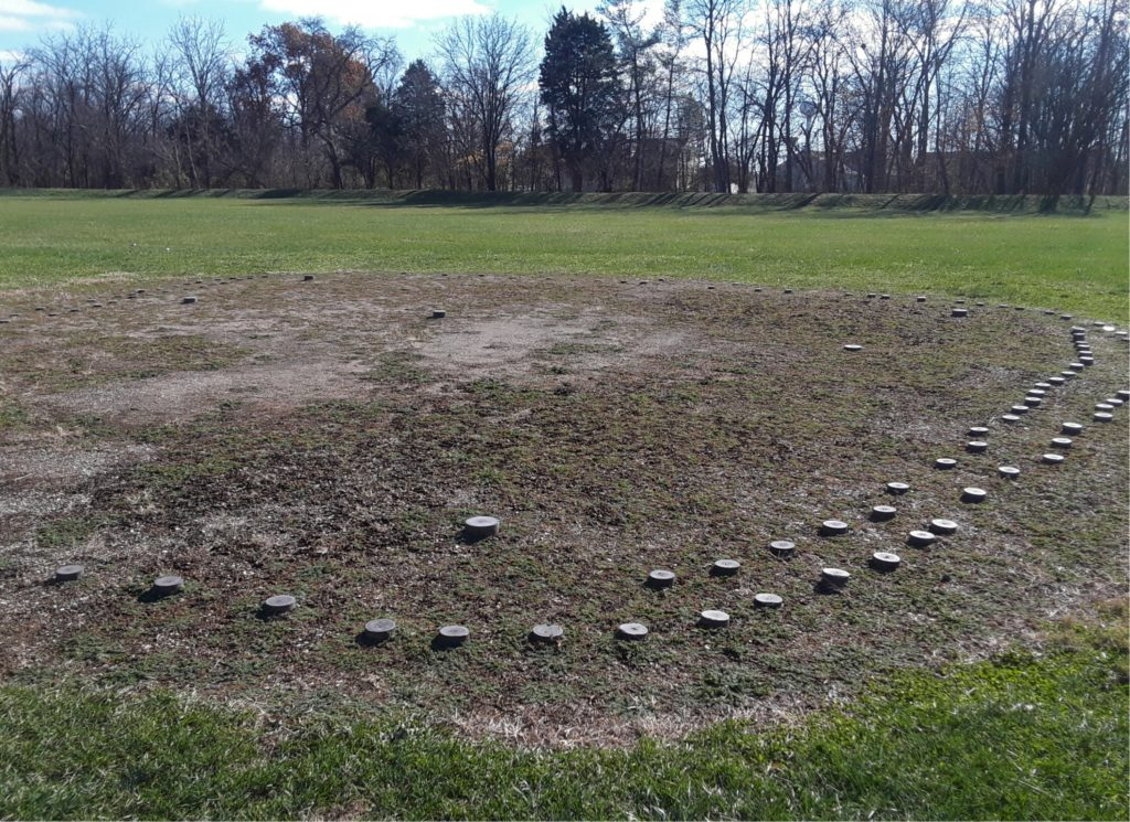 Remnants of a woodhenge at Mound City
