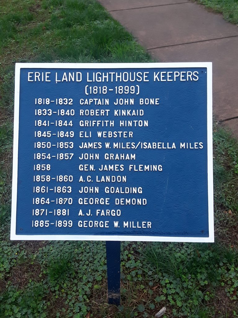 Erie Land Lighthouse keepers sign